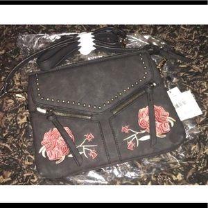 Violet Ray Leanna Roses Handbag